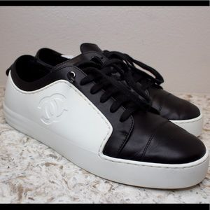 CHANEL Leather and Rubber Sneakers